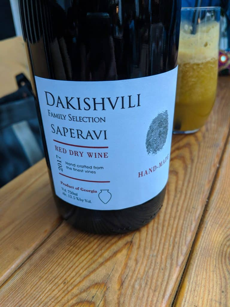 dakishvili saperavi red dry wine