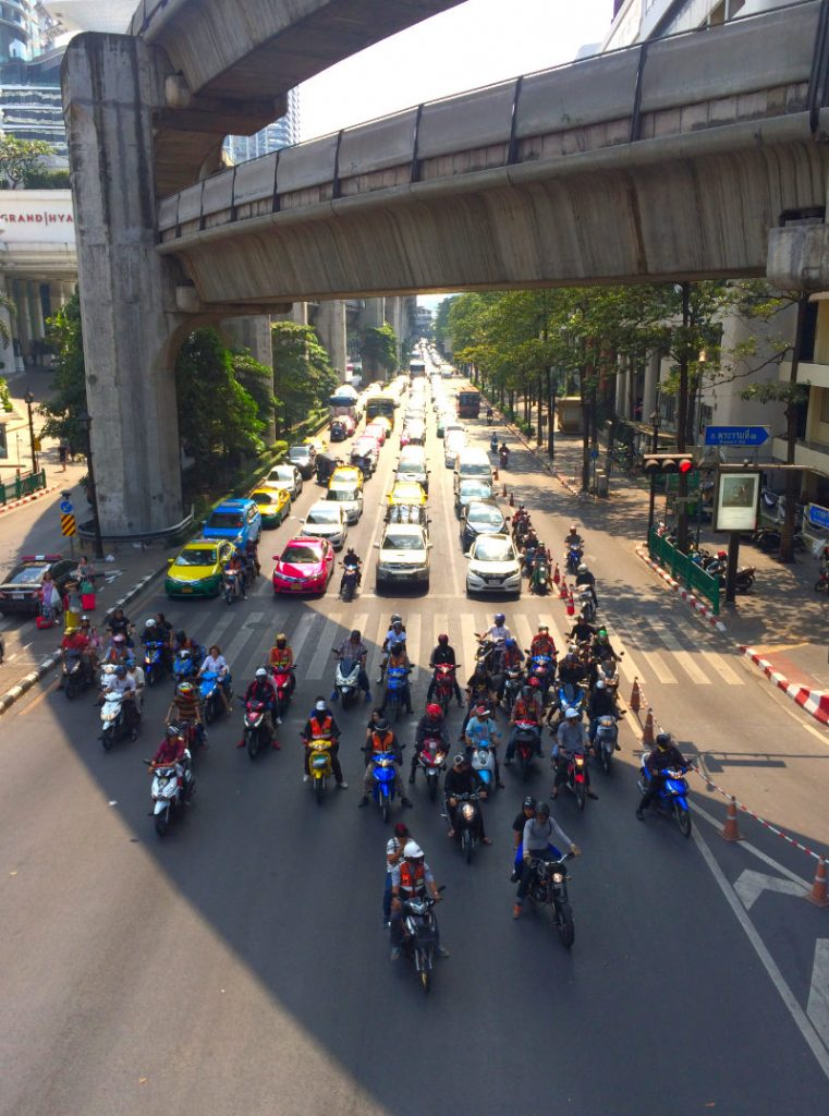 Traffic in Bangkok Thailand