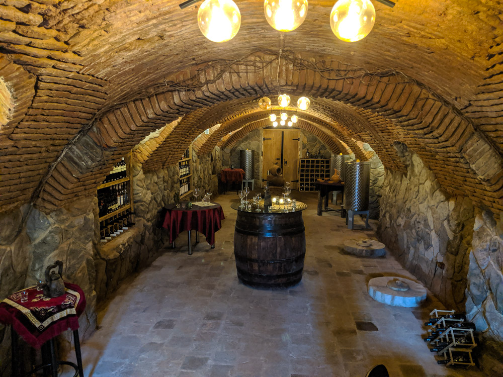 Typical wine cellar in Tbilisi