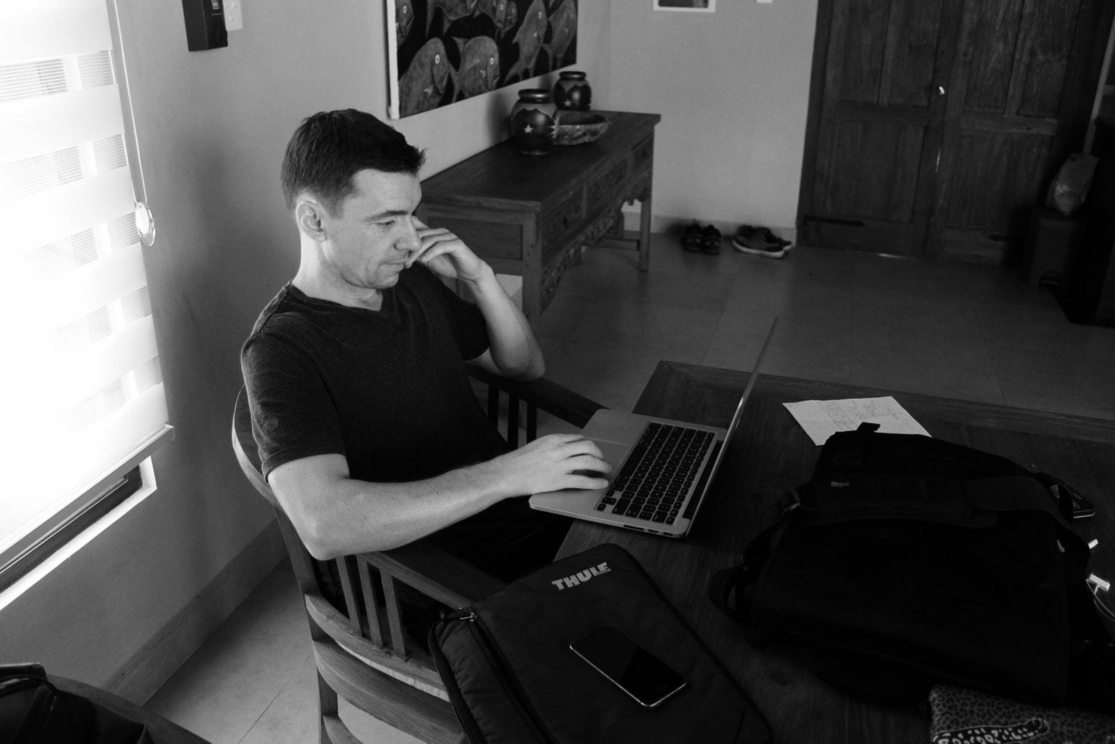 Keith Writing In Bali 1