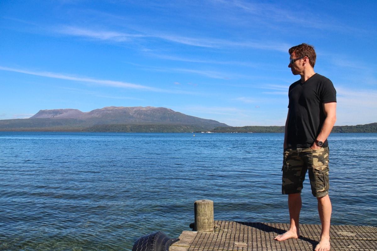 Writer Keith J Lang Standing Near Lake