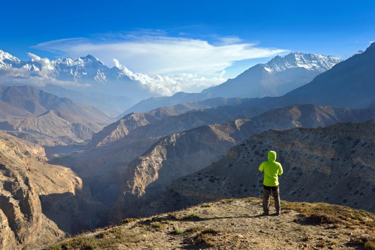 Looking at upper mustang trek landscape
