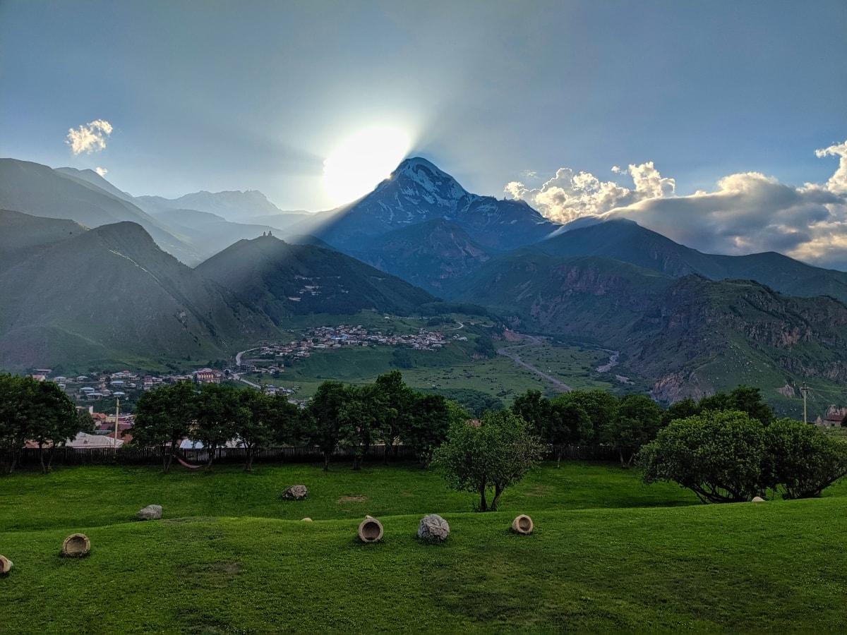 Kazbegi Mountain Sunset