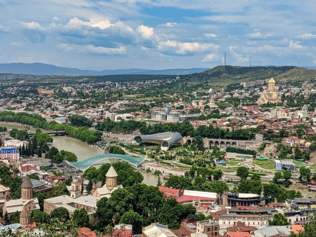 Tbilisi Skyline Travels In Georgia