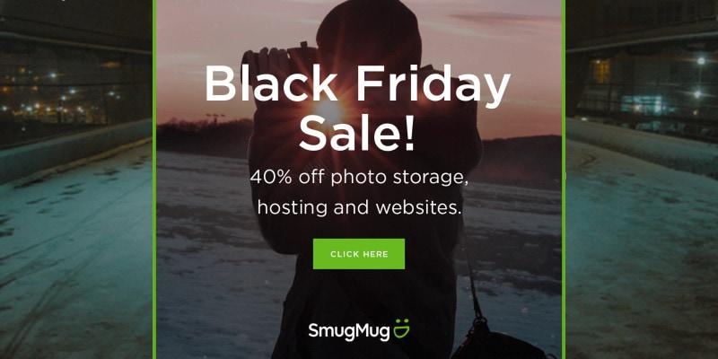 Black Friday Sale Smugmug 40 Percent Storage Backup